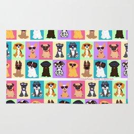 Doggi Breeds summer by Diseños que ladran Rug