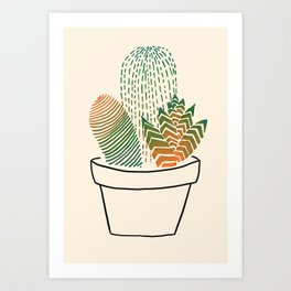 Succulent Study Art Print