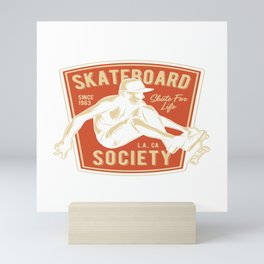 Skateboard Society Mini Art Print