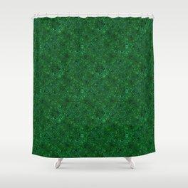 Green shiny confetti Shower Curtain
