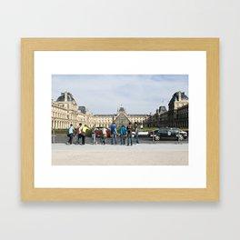 les jeunes de paris Framed Art Print