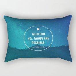 Matthew 19:26 Rectangular Pillow