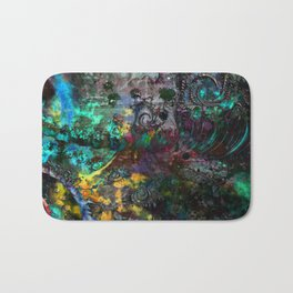 abstract waves multicolored Bath Mat