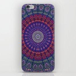 Blue Mandala Hippie Design iPhone Skin