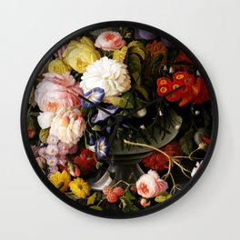 Flowers and Fruit Wall Clock