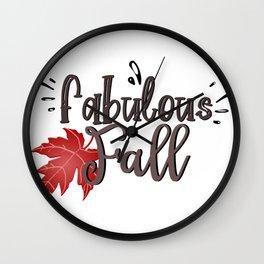 Fabulous fall. Wall Clock