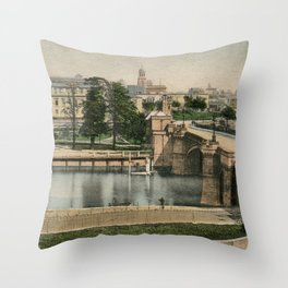 York general view and castle 1900 Throw Pillow