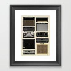Classic Amps Framed Art Print