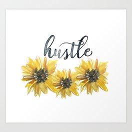 Sunflower Hustle Art Print