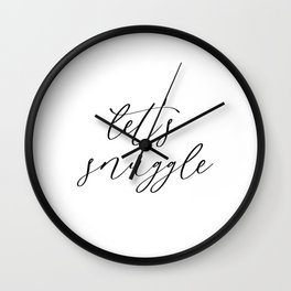 Let's Snuggle Wall Clock