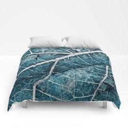 Frozen Winter Leaf Comforters