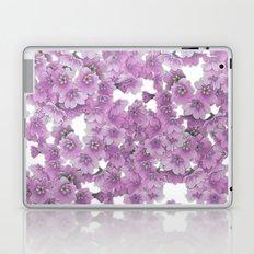 Pink Flowers on White Laptop & iPad Skin