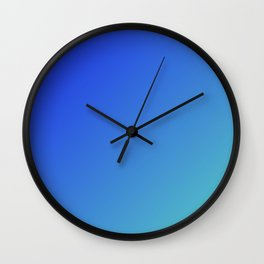 Calm beach gradient color Wall Clock