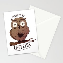 POWERED BY CAFFEINE Stationery Cards