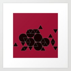 #312 Weightless construction site – Geometry Daily Art Print