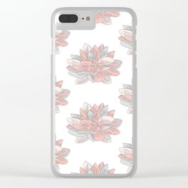 Pastel Water Lillies Clear iPhone Case