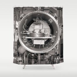 Klystron with Electron Tubes Shower Curtain