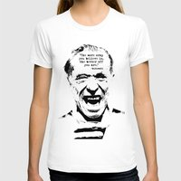 bukowski T-shirts featuring Charles Bukowski Quote Crap by Fligo