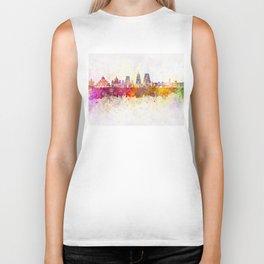 Bangalore skyline in watercolor background Biker Tank