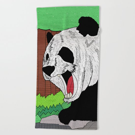 Panda ROAR! Beach Towel
