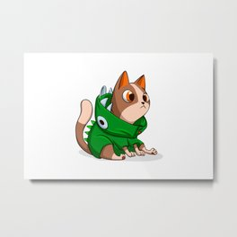 Cat dinosaur costume Metal Print