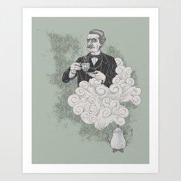 Earl Grey - old school Threadless design Art Print
