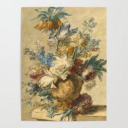 "Jan van Huysum ""Bouquet of Spring Flowers in a Terracotta Vase"" Poster"