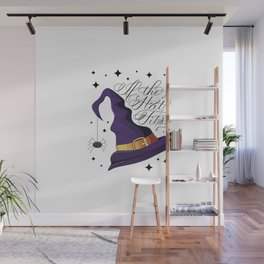 HALLOWEEN-IF THE HAT FITS-WITCH HAT Wall Mural