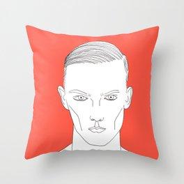 Orange boy Throw Pillow