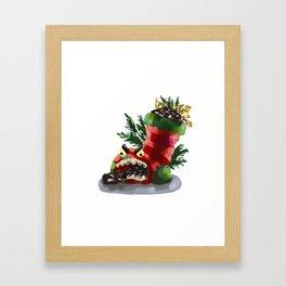 Mad Christmas Stocking Filler Framed Art Print