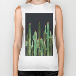 Cactus Four at night Biker Tank