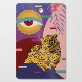 The Big Eye Leopard abstract Cutting Board