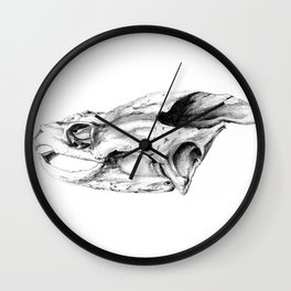 Snapping Turtle Skull Wall Clock