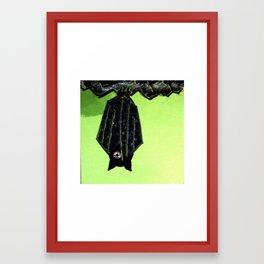 Little Black Bat Framed Art Print