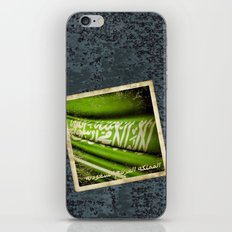 Grunge sticker of Kingdom of Saudi Arabia flag iPhone & iPod Skin