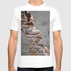 Bricks Mens Fitted Tee White MEDIUM