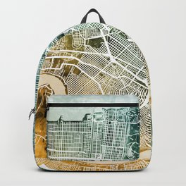 New Orleans Street Map Backpack