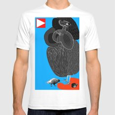 Ruthless Pigeon  Mens Fitted Tee MEDIUM White