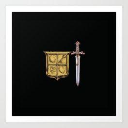 Zelda Sword & Shield Art Print