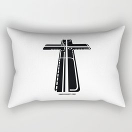 Confusianity (black on white) Rectangular Pillow