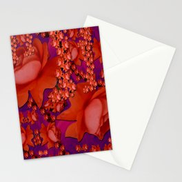 in the tropical power love rose forest in bloom Stationery Cards