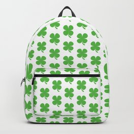 Lucky Irish Four Leaf Clovers Pattern Backpack