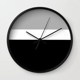 Minimal Abstract Black White 02 Wall Clock