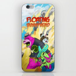 Floating BunnyHead Western Action  iPhone Skin