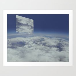 Mirrors relections Art Print