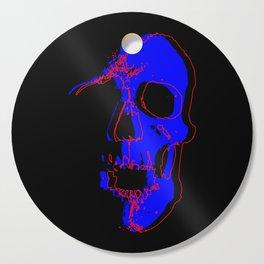 Skull - Blue Cutting Board