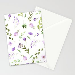 Purple Flower Field Stationery Cards