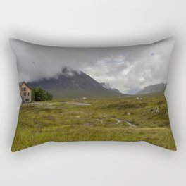 Dramatic landscape in Glencoe Scotland mountains  Rectangular Pillow