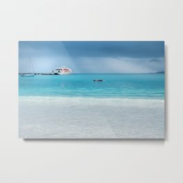 Beautiful light at the horizon on a rainy day at Kuto Bay Metal Print