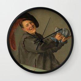 "Judith Leyster ""The Jolly Drinker"" Wall Clock"